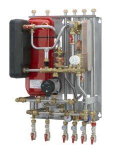 Billede af fjernvarmeboksens teknik